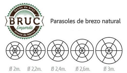 Medidas parasoles brezo - Bruc Emporda